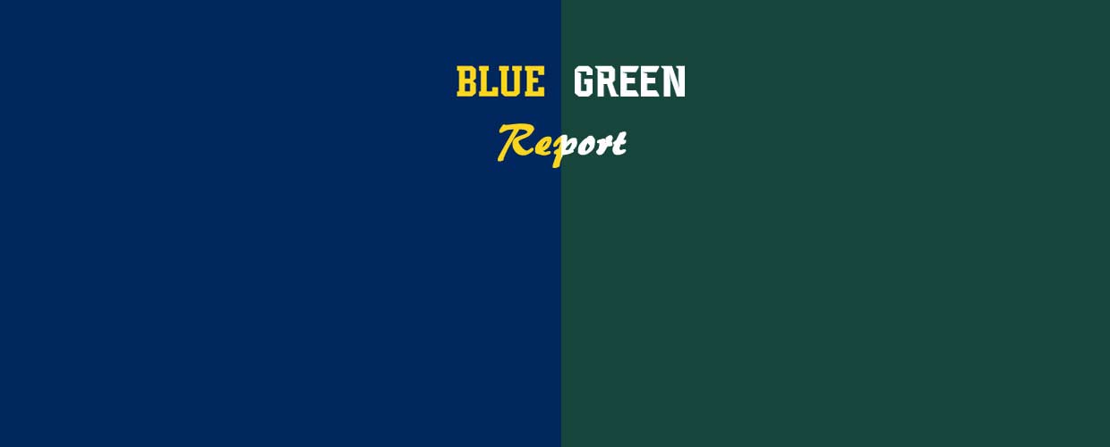 blue green report background